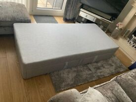 Brand New Single light grey bed base with drawers