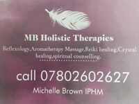 MB Holistics,Reflexology,Reiki,Aromatherapy ,Massage,Crystal Healing,Meditation,Angel card readings