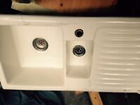 FOR SALE IN WOODFORD GREEN - WHITE CERAMIC SINK