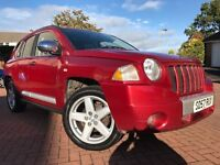 *12 MTHS WARRANTY*2008 JEEP COMPASS 2.0 CRD LIMITED EDITION STATION WAGON WITH LEATHER CRUISE*
