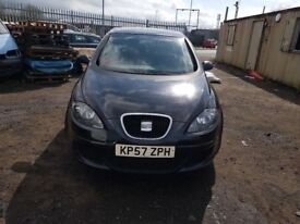 SEAT ALTEA 2007 1.6 PETROL BSE MANUAL 5 DOOR IN BLACK FOR BREAKING ONLY FOR PARTS