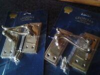 Brass Lever Latch Door handles