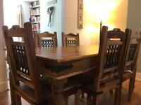 Indian Sheesham Solid Wood Table and Chairs