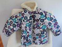 Old Navy Girls Winter Coat- Multi Colour Floral Print Size 3T