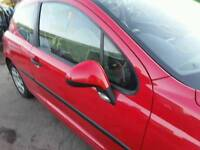 2007 PEUGEOT 207 URBAN 1.4HDI RED DRIVER SIDE RIGHT WING MIRROR MANUAL **POSTAGE AVAILABLE**