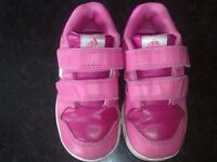 Infant girl adidas trainers size 8k