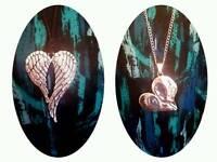 Gorgeous ladies heart pendants