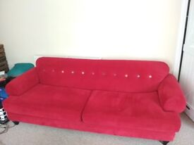 4 Seat Red Sofa