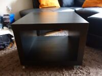 Ikea coffee table black brown
