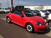 VW Beetle 1.6 TDI design Cabriolet. Nov 2014/64 Reg.