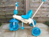 Tricycle with push rod