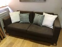 sofa bed, very comfortable, good condition with removable covers