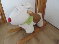 WOODEN MAMAS & PAPAS SOFT ANIMAL ROCKER for toddlers - ONLY £6!