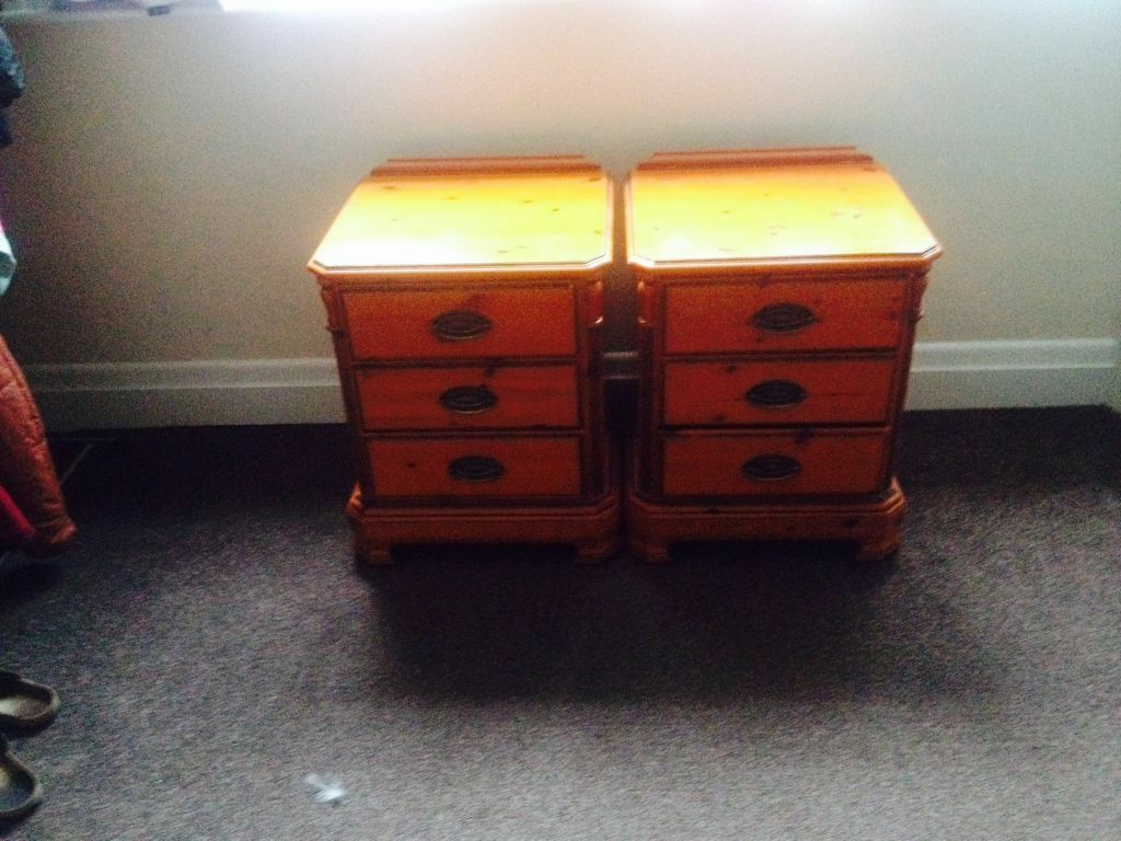 Two Lovely John Lewis Bedside Tables In Bournemouth Dorset . Full resolution‎  photo, nominally Width 1024 Height 768 pixels, photo with #9F8D2C.