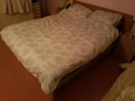 King Size Wooden Bed Frame (with option of mattress)