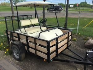 GOLF CART WITH TRAILER