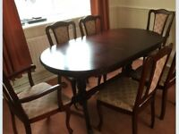 Dining table and 6 chairs, vgc could deliver