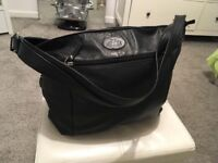 New black soft leather bag