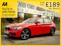 BMW 1 SERIES 1.6 116I SPORT 5d AUTO 135 BHP (red) 2015