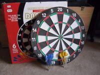 Dart board and dart set