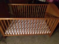 Solid pine full size cot