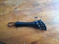 """Violin tailpiece-""""Schmidt Harp-style""""-Ebony-4tuners"""