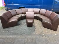 14 x Faux Leather Sofa Set They All Come Separately So Can Make Smaller Sets.