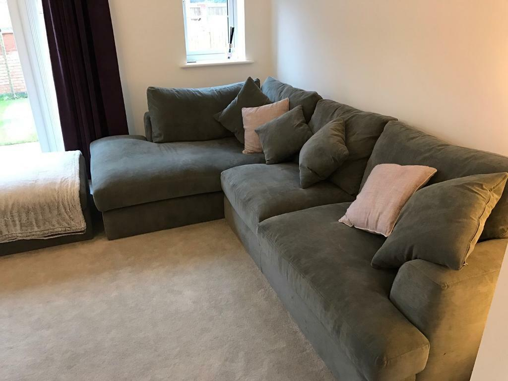 Next stratus 2 corner chaise left sofa mid french grey for 2 seater chaise sofa for sale