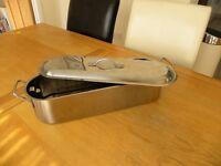 Stainless steel fish kettle. Unused
