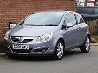 Vauxhall Corsa 1.3 CDTI Design (2008/08 Reg) + 6 SPEED MANUAL + £30 TAX + HIGH SPEC + IDEAL CAR +