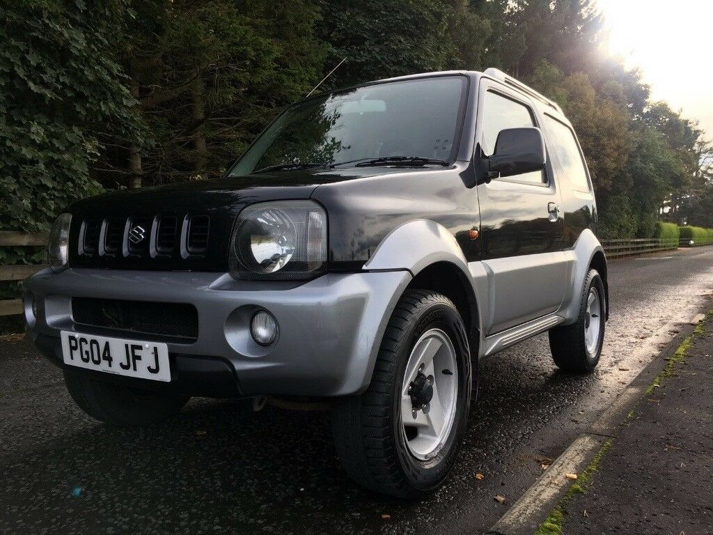 2004 suzuki jimny 1 3l automatic black silver 4x4 ideal first car get ready for winter. Black Bedroom Furniture Sets. Home Design Ideas