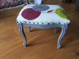 beautifully upholstered reproduction stool