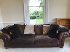 "Leather sofa 8'10"" wide 3'9""deep. £500 or nearest offer. Buyer collects."