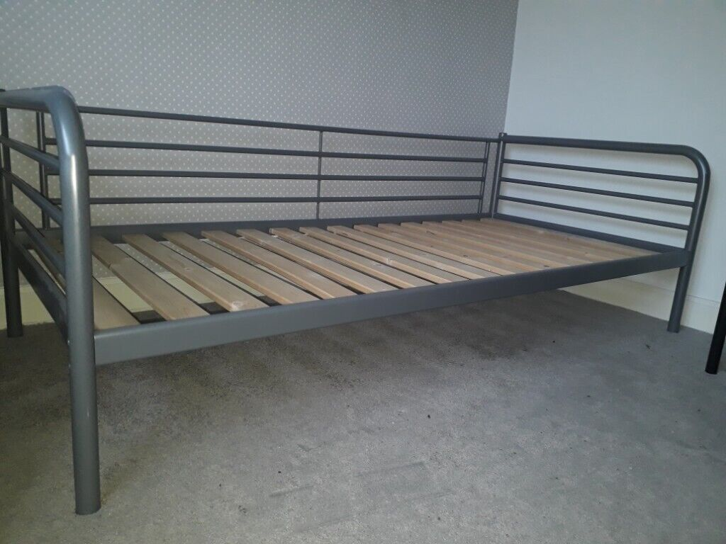 Groovy Ikea Svarta Single Bed Daybed Metal Bed Frame With Ikea Sultan Lade Slats In Giffnock Glasgow Gumtree Onthecornerstone Fun Painted Chair Ideas Images Onthecornerstoneorg