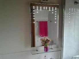 Beautiful glass mirror with LED'S