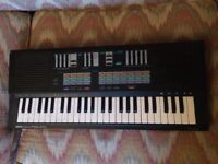 Yamaha PSS 470, FM mini key synth w/Power supply