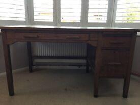 Old Vintage Oak Desk