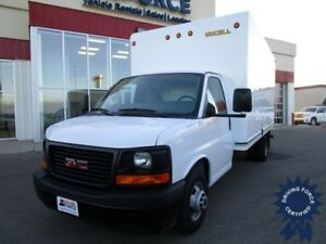 2017 GMC Savana G3500 W/16' Unicell Van Body & Pull Out Ramp