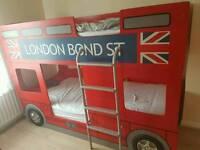 Bus bed, bunk bus bed