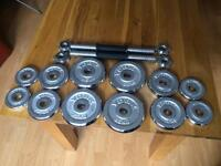 Fully Adjustable York Dumbbells (perfect for beginners)