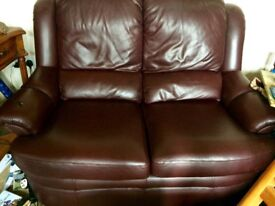 Two seater leather sofa in excellent condition. Gplan - good quality leather. Very little usage.