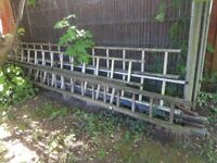 4 ladders for sale - 3 wooden and 1 metal