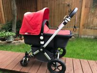Bugaboo Cameleon 2nd Bugaboo Cameleon 2nd Gen Complete Travel System in Grey/Red