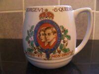1937 Coronation commemorative mug