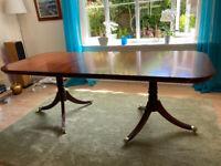 Dining Table + 8 chairs Mahogany