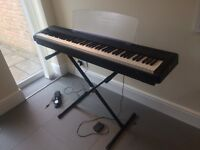 Yamaha P95 Digital Piano - with X-frame Stand, Sustain Pedals and Travel Bag