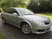 2007 Vauxhall Vectra 1.8i VVT Design 5dr in star silver with half leathers just had full valet