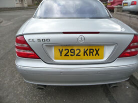 Mercedes CL500 (2001Y) low miles for year.