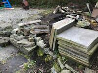 Free slabs and edging stones