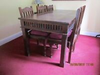 Jali Table & 6 Chairs